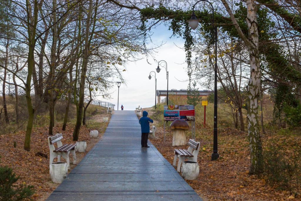 Świnoujście: droga na plażę