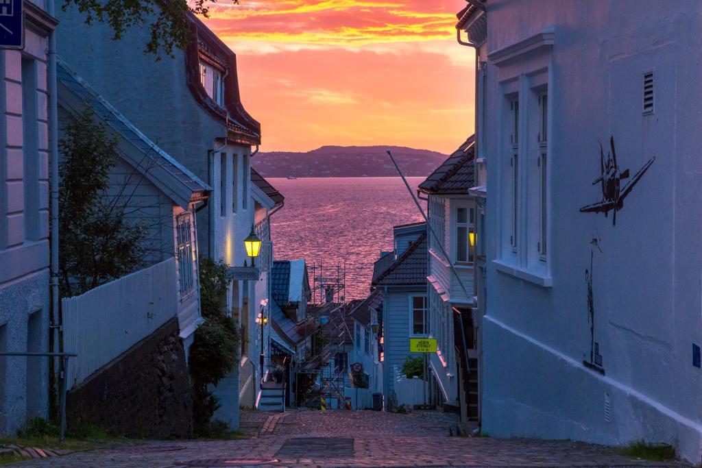 Nadmorskie uliczki Bergen