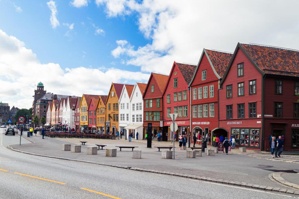 Kupiecka zabudowa Bryggen
