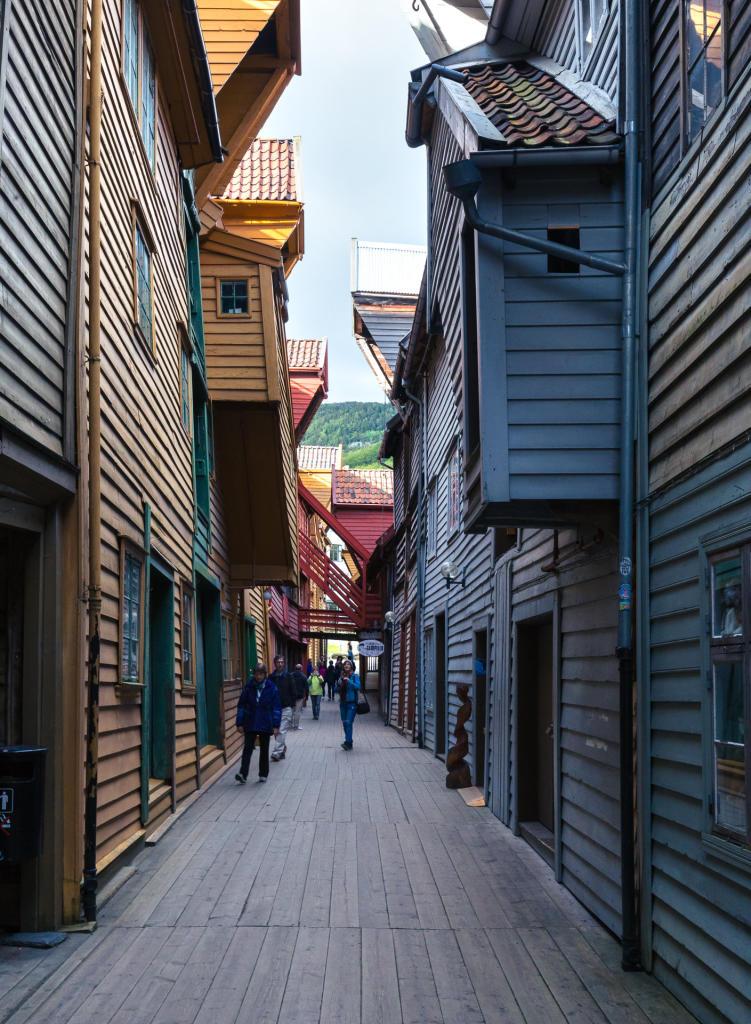 Kupiecka uliczka Bryggen