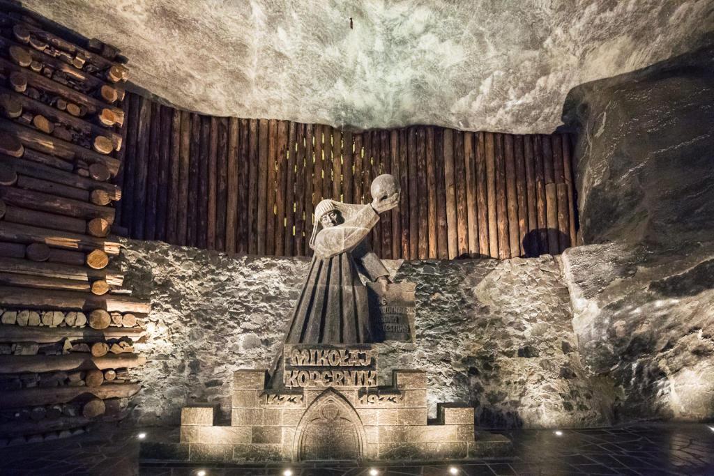 Wieliczka: Pomnik Mikołaja Kopernika