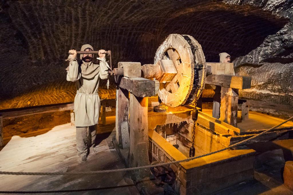 Wieliczka: zabytkowe maszyny wydobywcze