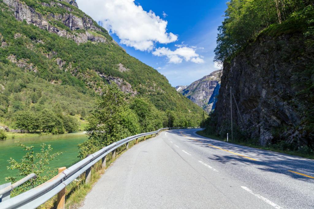 Droga przez dolinę Nærøydalen