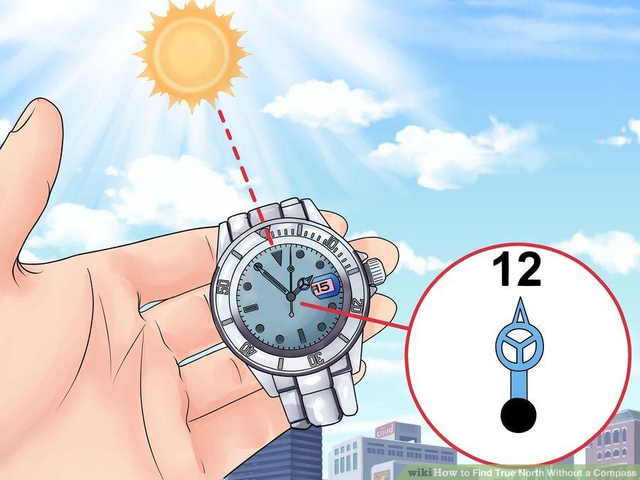 Wyznaczanie północy. Źródło zdjęcia: http://www.wikihow.com/Find-True-North-Without-a-Compass