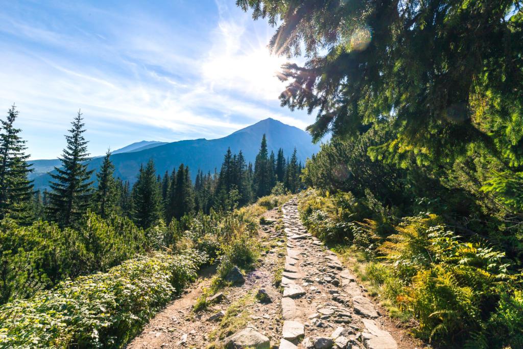 Niebieski szlak z Hali Gąsienicowej do Czarnego Stawu Gąsienicowego