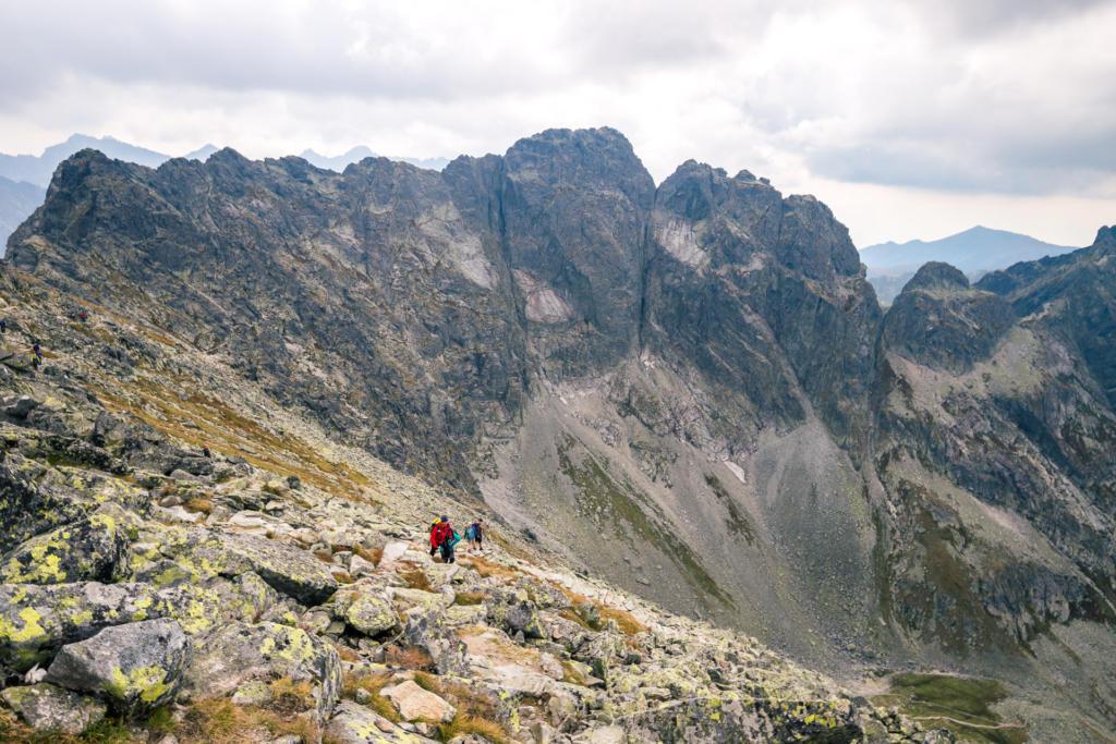 Zejście z Zadniego Granatu do Koziej Dolinki