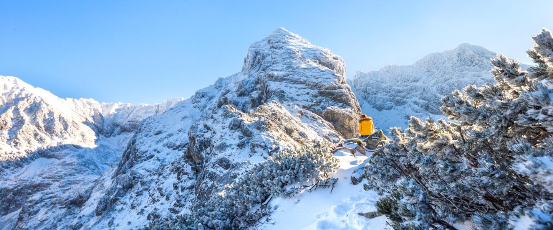 Zimowe Tatry: Mały Kościelec i Karb